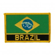 North and South America Flag Embroidered Patch - Brazil