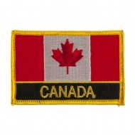 North and South America Flag Embroidered Patch - Canada