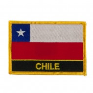 North and South America Flag Embroidered Patch - Chile
