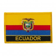 North and South America Flag Embroidered Patch - Ecuador