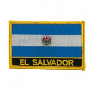 North and South America Flag Embroidered Patch - El Salvador