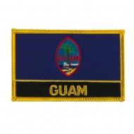 North and South America Flag Embroidered Patch - Guam