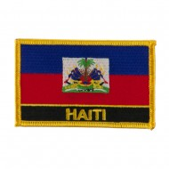 North and South America Flag Embroidered Patch - Haiti