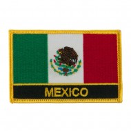 North and South America Flag Embroidered Patch - Mexico