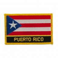 North and South America Flag Embroidered Patch - Puerto Rico