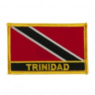 North and South America Flag Embroidered Patch - Trinidad
