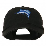 Sailfish Embroidered Washed Cap - Black