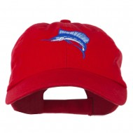 Sailfish Embroidered Washed Cap - Red