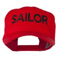 Sailor Embroidered Cap - Red