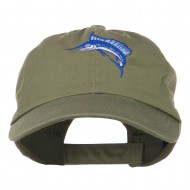 Sailfish Embroidered Washed Cap - Olive