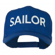 Sailor Embroidered Cap - Royal