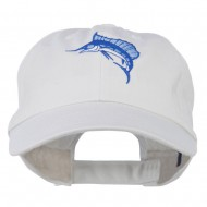 Sailfish Embroidered Washed Cap - White