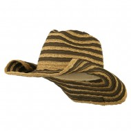 Women's UPF 50+ Striped Cowboy Hat - Tan Brown
