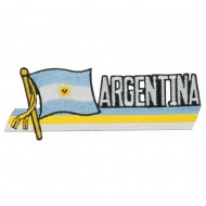 South America Cutout Embroidered Patch - Argentina