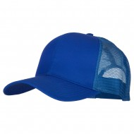 Solid Cotton Prostyle Twill Mesh Cap - Royal