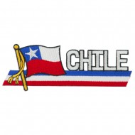 South America Cutout Embroidered Patch - Chile