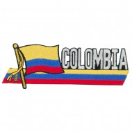 South America Cutout Embroidered Patch - Colombia