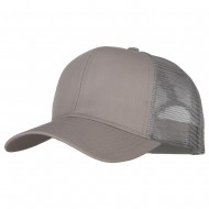 Solid Cotton Prostyle Twill Mesh Cap - Grey
