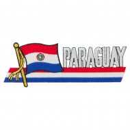 South America Cutout Embroidered Patch - Paraguay