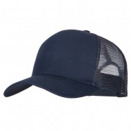 Solid Cotton Prostyle Twill Mesh Cap - Navy
