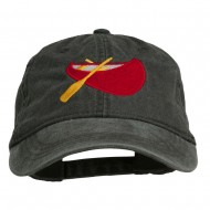 Sport Canoe Embroidered Washed Cap - Black