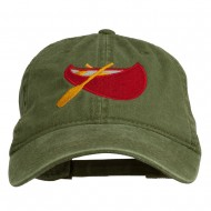 Sport Canoe Embroidered Washed Cap - Olive Green