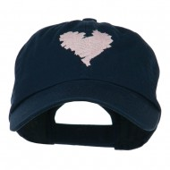 Scribbled Heart Embroidered Cap - Navy