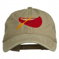 Sport Canoe Embroidered Washed Cap - Khaki