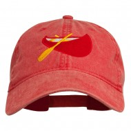 Sport Canoe Embroidered Washed Cap - Red
