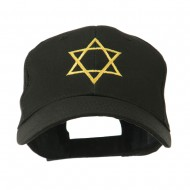 Star of David for Holiday Embroidered Cap - Black