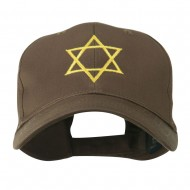 Star of David for Holiday Embroidered Cap - Brown