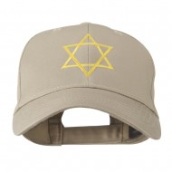 Star of David for Holiday Embroidered Cap - Khaki