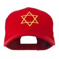 Star of David for Holiday Embroidered Cap - Red