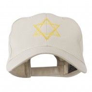 Star of David for Holiday Embroidered Cap - Stone