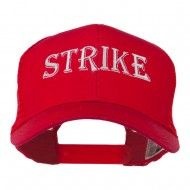 Strike Embroidered 6 Panel Mesh Cap - Red