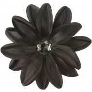 Sunflower Hair Clip - Black