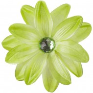 Sunflower Hair Clip - Lime