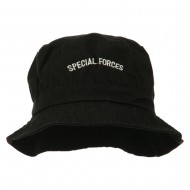 Special Forces Embroidered Bucket Hat - Black