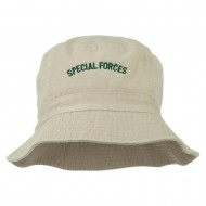 Special Forces Embroidered Bucket Hat - Stone