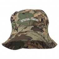 Special Forces Embroidered Bucket Hat - Camo