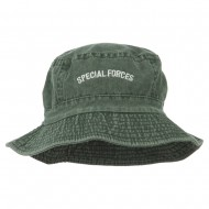 Special Forces Embroidered Bucket Hat - Green