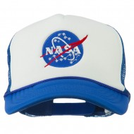 NASA Insignia Embroidered Foam Mesh Cap - Royal White
