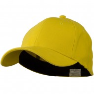 Stretch Heavy Weight Brushed Cotton Fitted Cap - Yellow