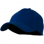 Stretch Heavy Weight Brushed Cotton Fitted Cap - Royal