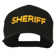 Sheriff Letter Embroidered High Profile Cap - Black