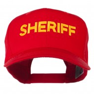 Sheriff Letter Embroidered High Profile Cap - Red