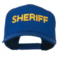 Sheriff Letter Embroidered High Profile Cap - Royal