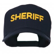 Sheriff Letter Embroidered High Profile Cap - Navy