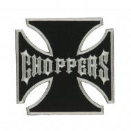 Skull and Choppers Embroidered Military Patch - Choppers
