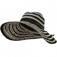 Women's Hat with Stitching And Loop Detail - Black